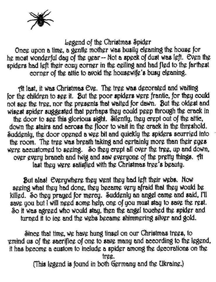 graphic regarding Legend of the Christmas Spider Printable titled Ornaments Sunchatchers